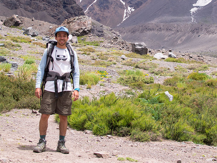 Our guide José in the andean park El Juncal.