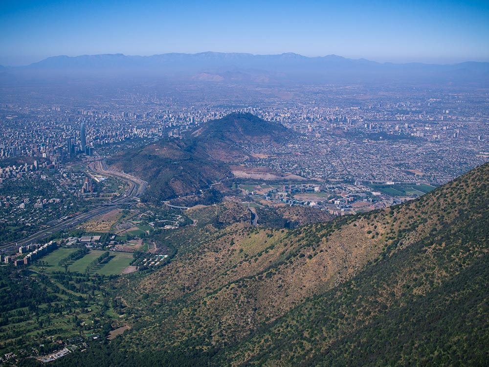 View of Santiago from Manquehue Mountain - Chile Outdoor
