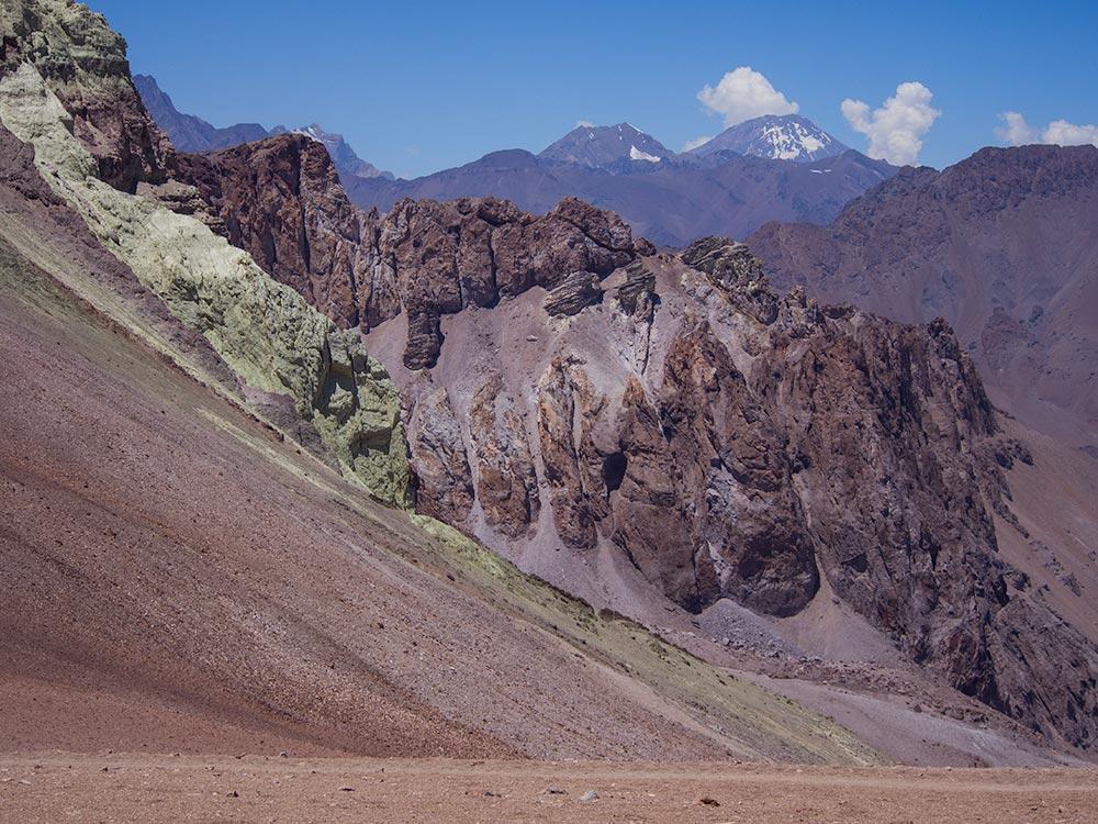 Base of El Pintor - Trekking Los Andes