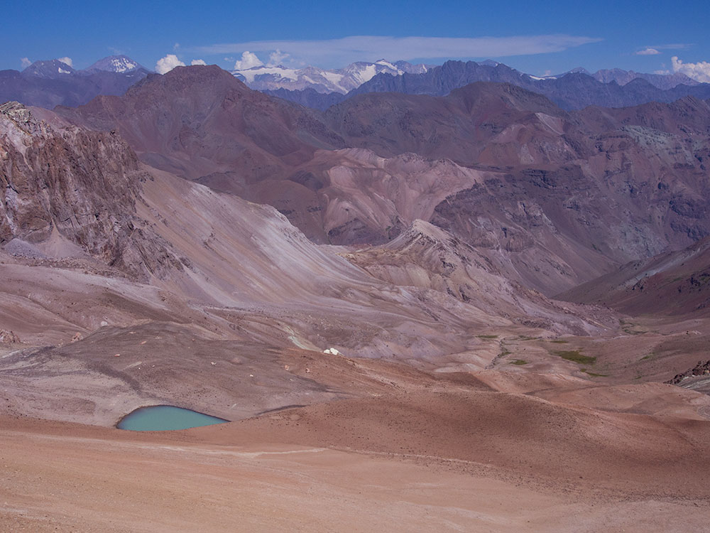 View from La Parva of the Andes Mountains - Trekking Chile