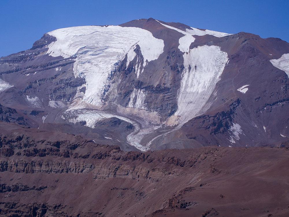 View of El Plomo Mountain from El Pintor - Chile Trekking