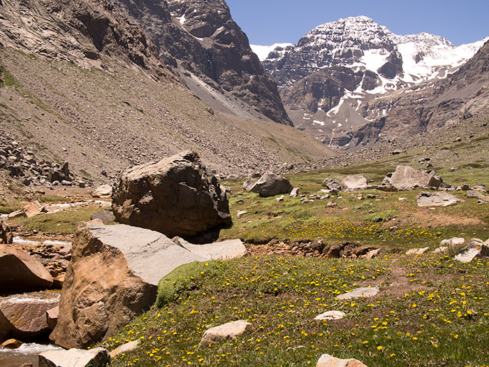 Santiago hiking tours La Paloma Glacier in the Andes Mountains