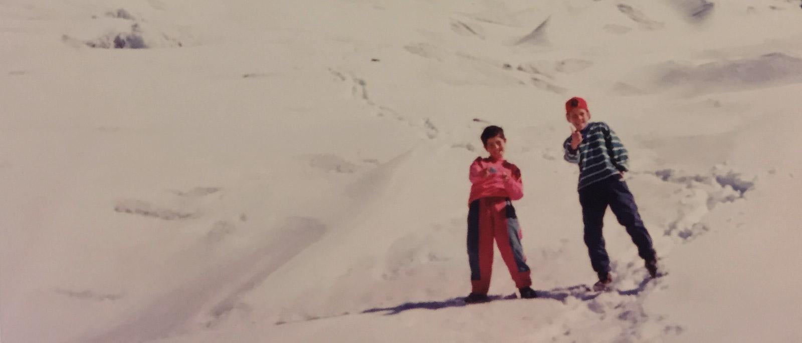 Morado hanging glacier: a childhood memory